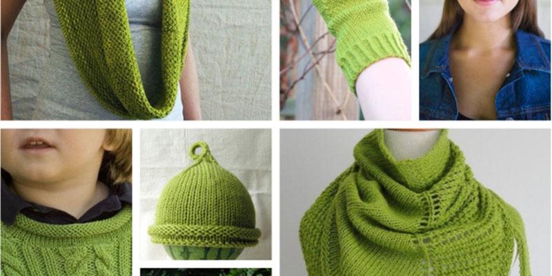 شال و کلاه زنانه سبز