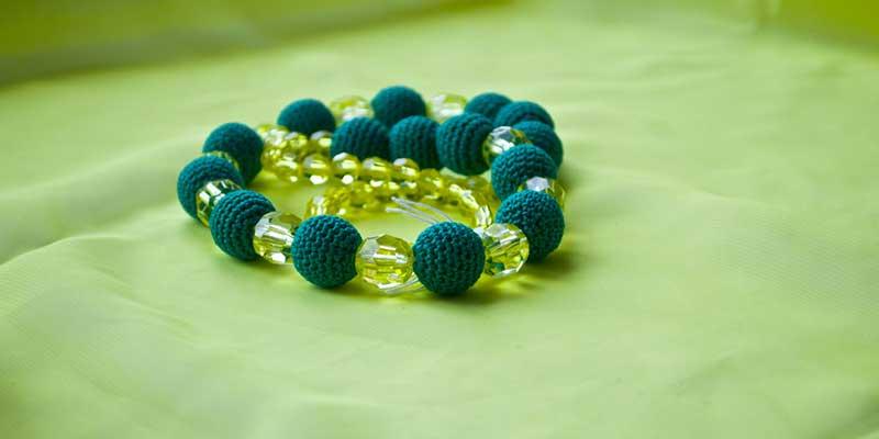 دستبند زنانه سبز