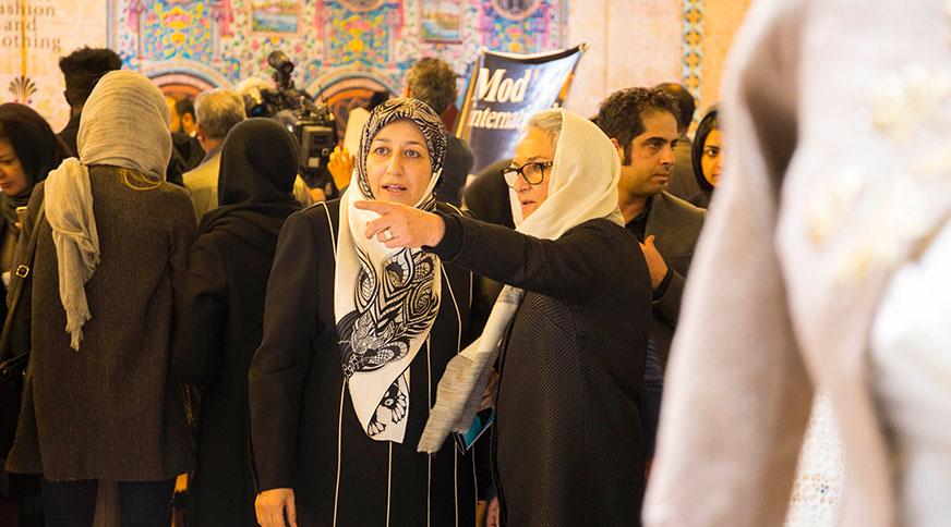 مریم ایمانیه همسر دکتر جواد ظریف افتتاحیه ششمین جشنواره مد و لباس فجر