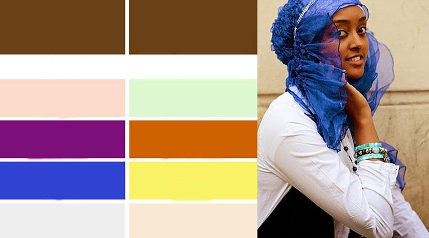 رنگ روسری برای پوست سبزه تیره