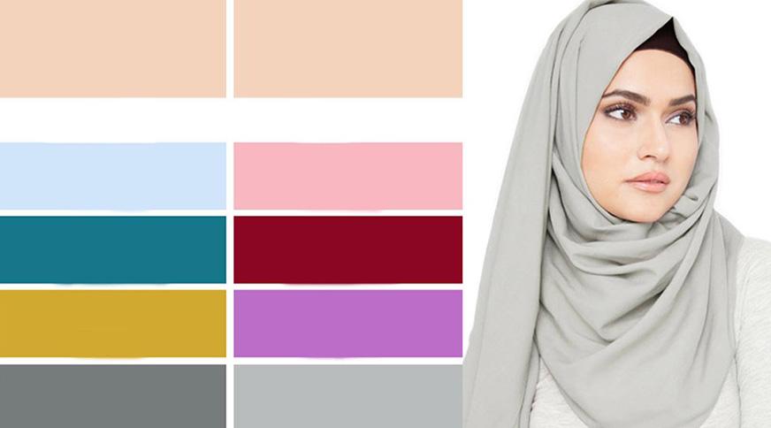 رنگ روسری برای پوست سفید