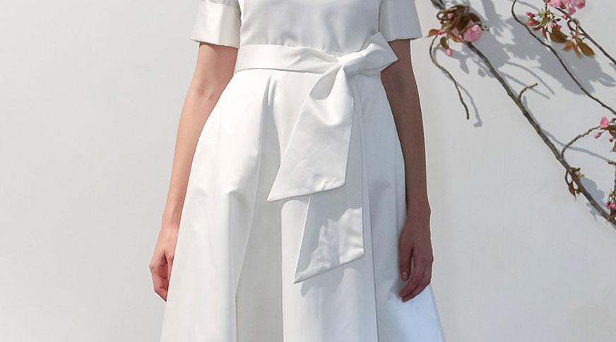 Bride wearing big bows - مدل لباس عروس های امسال را بشناسید