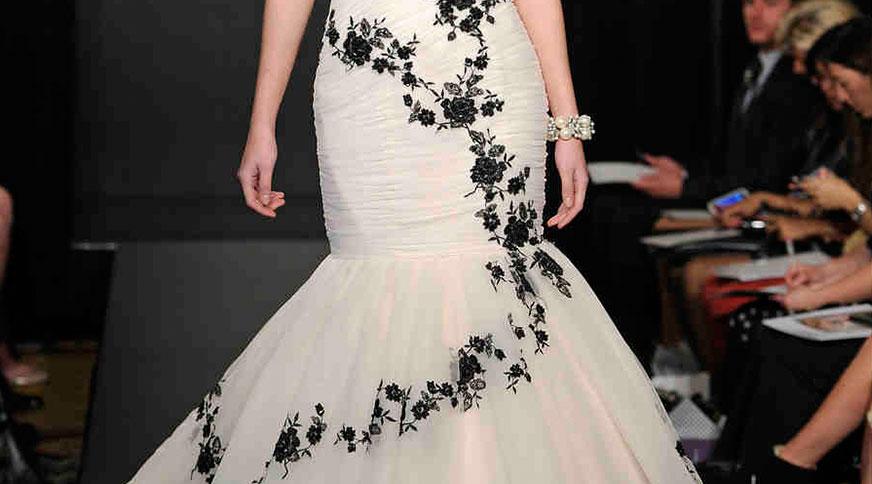 black on wedding dresses - مدل لباس عروس های امسال را بشناسید
