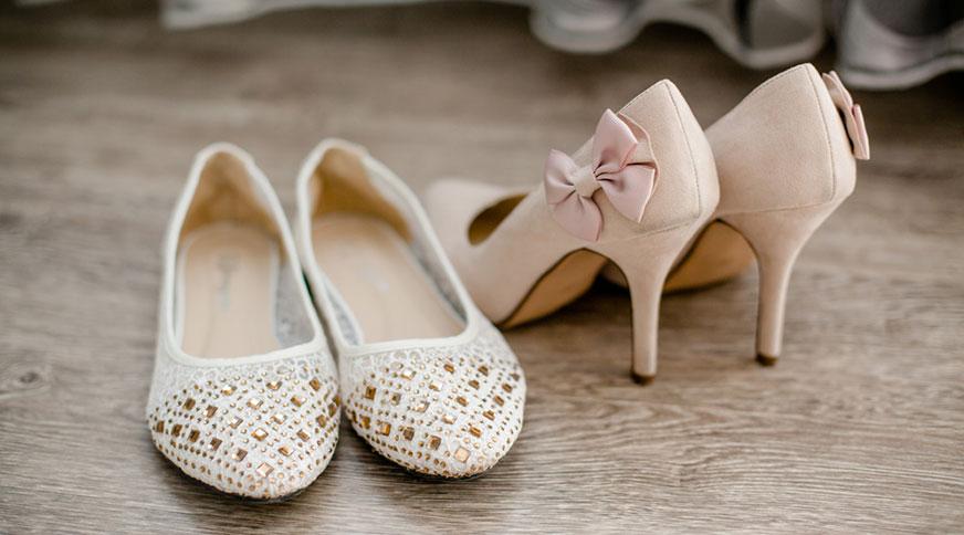 choosing bride shoes - انتخاب مدل کفش عروس