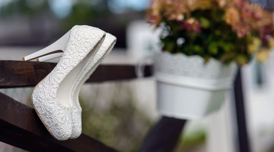 floral white bride shoes - انتخاب مدل کفش عروس