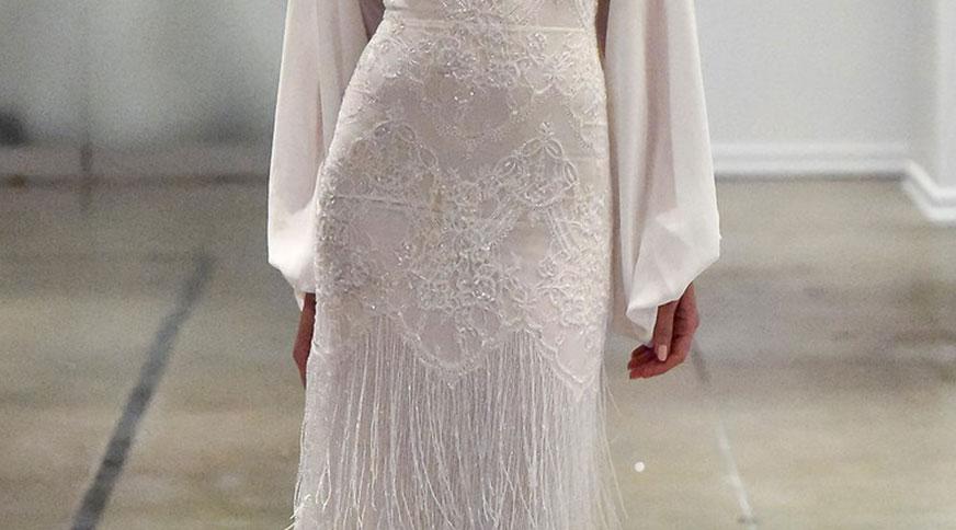 fringe dress - مدل لباس عروس های امسال را بشناسید