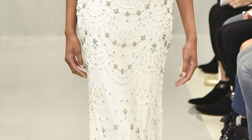 pearls in wedding dress - مدل لباس عروس های امسال را بشناسید