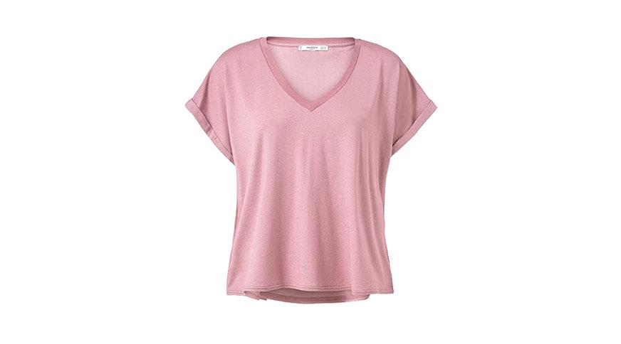 تی شرت نخی صورتی زنانه