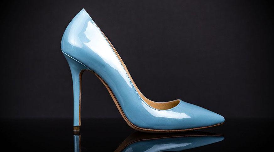 shiny blue bride shoes - انتخاب مدل کفش عروس