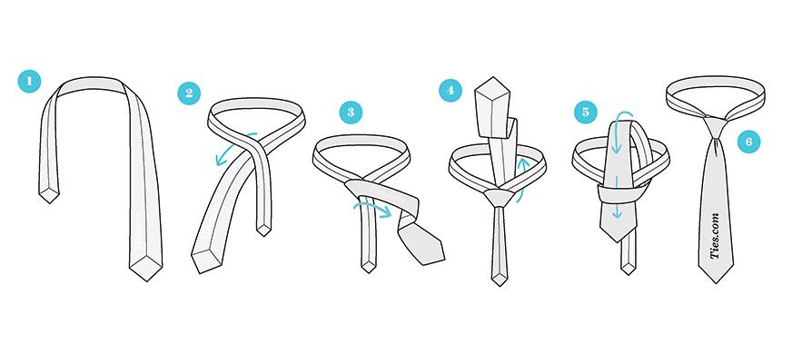 آموزش بستن کراوات ساده