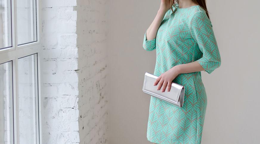 women light blue dress - در یک مراسم عروسی چه بپوشیم؟