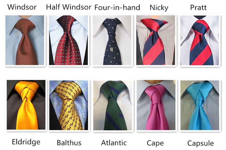 انواع گره کراوات