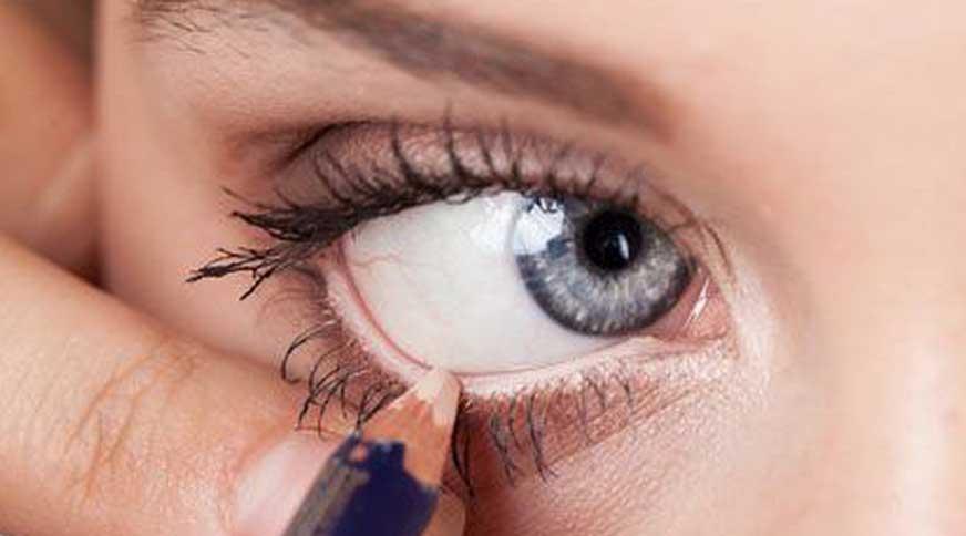 مدل آرایش چشم با مداد روشن