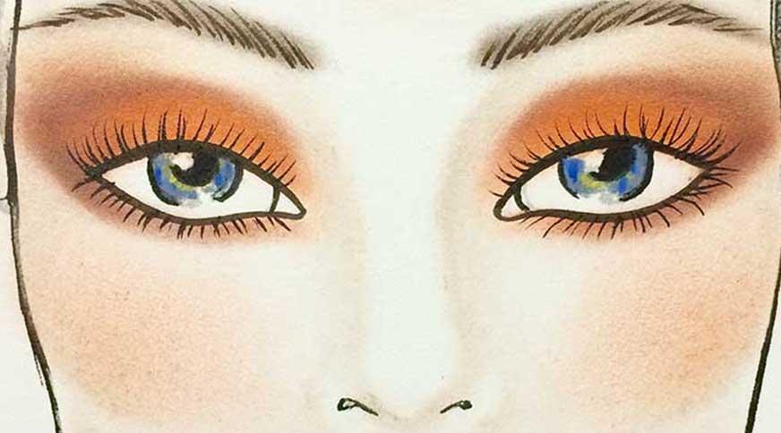خط چشم مناسب چشم آبی