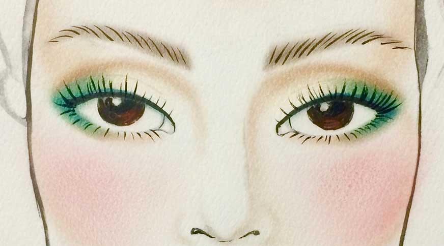 مداد چشم قهوه ای