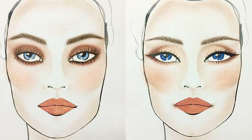 سایه مناسب برای چشم آبی