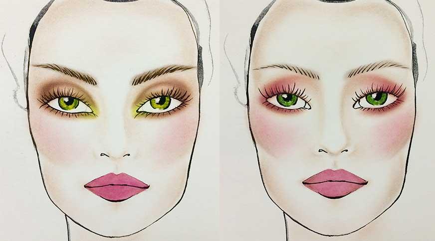 خط چشم مناسب چشم های سبز