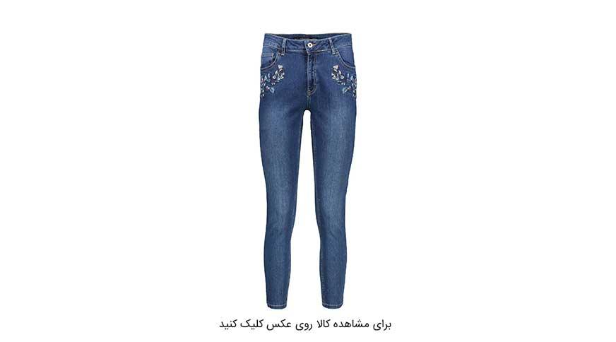 مدل شلوار جین زنانه گلدوزی شده ال سی وایکیکی