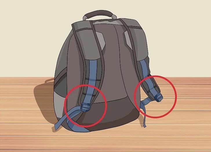 بندهای قابل تنظیم در کوله پشتی