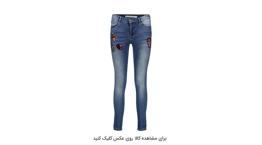 شلوار جین زنانه گلدوزی شده جنیفر