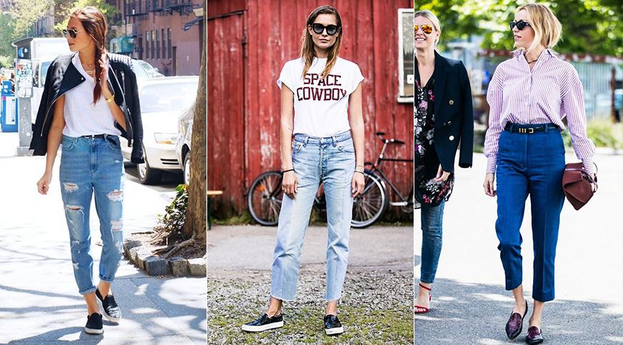 شلوار جین فاق بلند زنانه