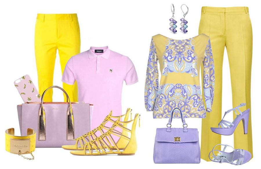ترکیب زرد و یاسی
