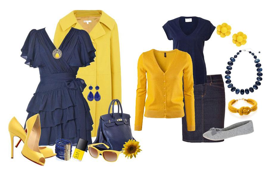 ترکیب زرد و آبی