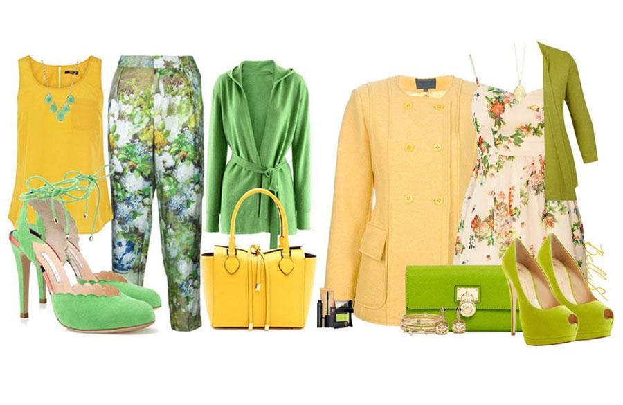 ترکیب زرد و سبز